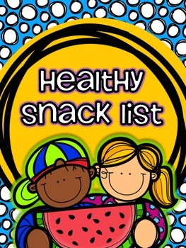 Healthy Snack List