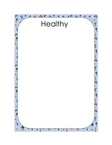 Healthy Snacks File Folder Game - Sorting Healthy and Unhe