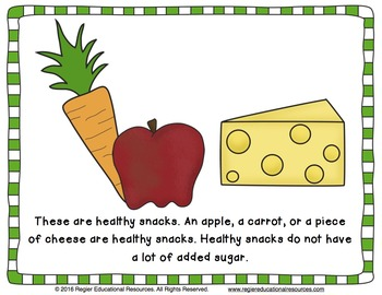 Healthy Foods: What Snack Will You Choose? Class Book