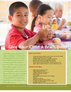 Healthy Students Flyer for Parents