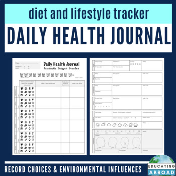 Headache Tracker for Teachers: Daily Health Journal & Monthly Overview