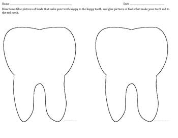 Healthy Teeth Cut and Sort