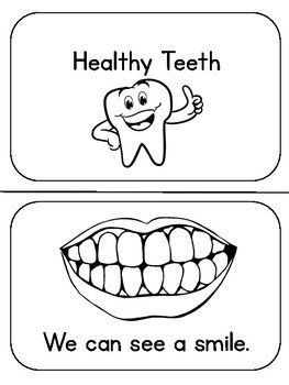 Healthy Teeth Emergent Reader Freebie