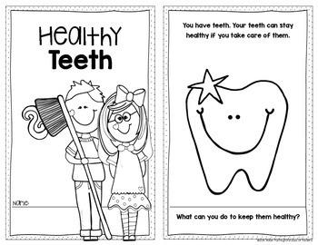 Healthy Teeth {Habits} Emergent Reader For Kindergarten & First Grade