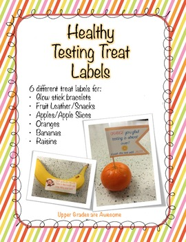 Healthy Testing Treat Labels