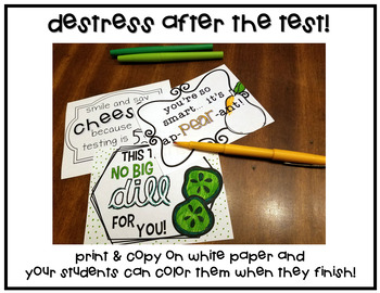 Healthy Testing Treat Notes >> INK FRIENDLY Black & White version!