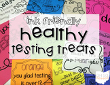 Healthy Testing Treat Notes >> INK FRIENDLY Black & White