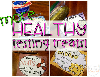 Healthy Testing Treat Notes >> part 2!