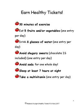 Healthy Tickets