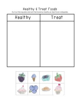 Healthy & Treat Food Sorting