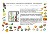 Healthy & Un-Healthy food Bingo