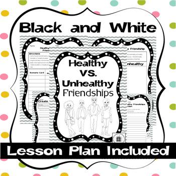 Health VS. Unhealty Friendship Activities & Scenario Cards