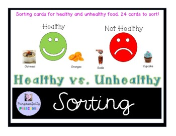 Healthy Foods And Junk Foods Worksheets