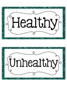 Healthy Vs. Unhealthy Sort