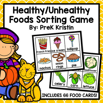 Healthy And Unhealthy Food Sorting Game By Prek Kristin Tpt