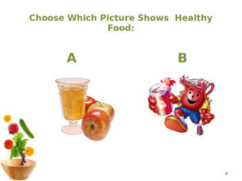 Healthy and Unhealthy Foods Pre-K