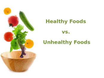 Healthy and Unhealthy Foods Pre-K
