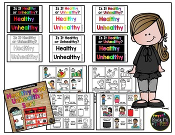 Healthy and Unhealthy Sort for Pocket Chart Healthy Habits