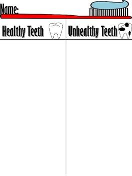 Healthy and Unhealthy Teeth Sort