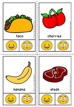Healthy and unhealthy clip cards.(free)