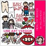 Healthy bodies clip art - LINE ART- by Melonheadz