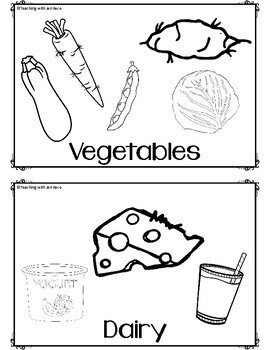 Healthy foods activity booklet {trace and draw}