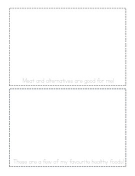 Healthy foods activity booklet {trace and draw} - Canadian version