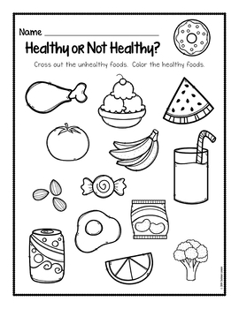Healthy or Not Healthy? Printable Pack