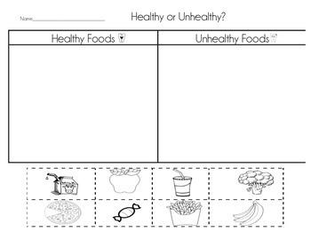 Healthy or Unhealthy Food Sort