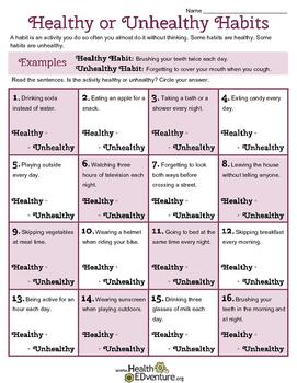 Healthy or Unhealthy Habits