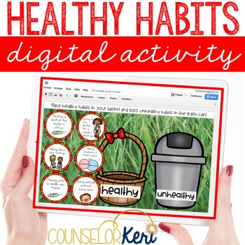 Healthy or Unhealthy Habits Sort Digital Activity for Red Ribbon Week