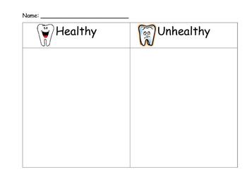 Healthy vs Unhealthy Dental Sort