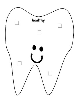 Healthy vs Unhealthy Food Dental Health Sort Precious Preschoolers