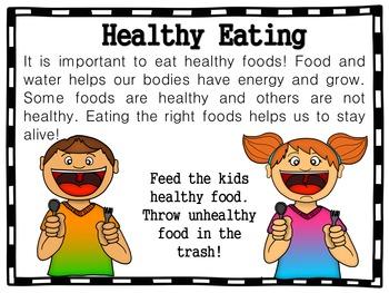 Healthy vs. Unhealthy Sort (Nutrition)