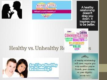 Healthy vs. Unhealthy Teen Relationships PowerPoint