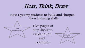 Hear, Think, Draw: Common Core Listening Lesson Plan for High School