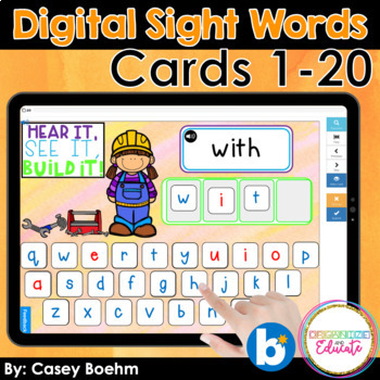 Digital Sight Words Fry 1-20
