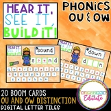 Hear it, See it, Build it! Phoincs ou and ow (Boom Cards!)