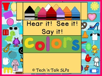 Hear it!   See it!   Say It!   COLORS Seek and Find