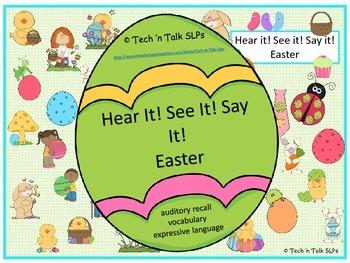 Hear it!   See it!   Say It!   Easter Seek & Find
