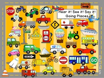 Hear it!   See it!   Say It!   Going Places Seek and Find