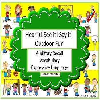 Hear it!   See it!   Say It!   Outdoor Fun Seek & Find