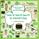 Hear it!  See it!  Say It!  St. Patrick's Day Seek and Find