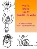 Hear it, find it, say it!: Regular -er verbs