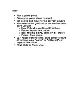 Hearing/Auditory Game SLP