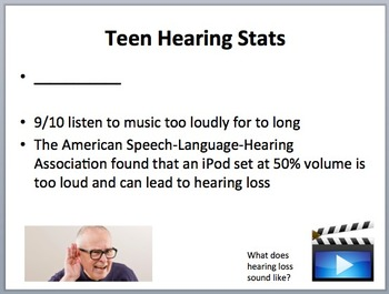 Hearing, Hearing Loss and the Human Ear - Physics and Biology Lesson Package