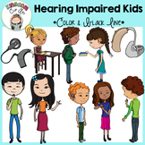 Hearing Impaired Kids Clip Art