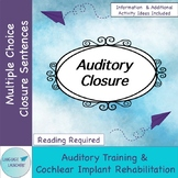 Auditory Closure Pack for Hearing Impairment & Auditory Training