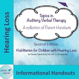 Topics in Auditory Verbal Therapy for Hearing Impairment: Parent Handouts