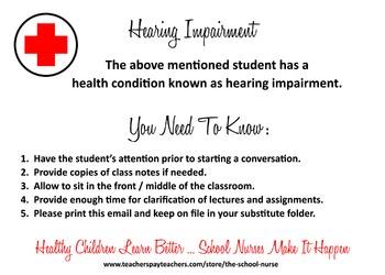 Hearing Impairment health information card JPG